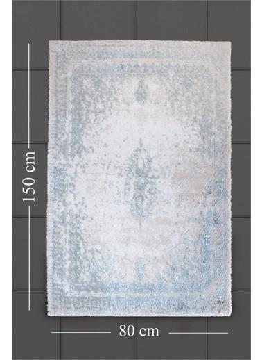 HC&W Tajmahal Pamuk Viskon Zemin Grubu 80x150 Aqua Mavi